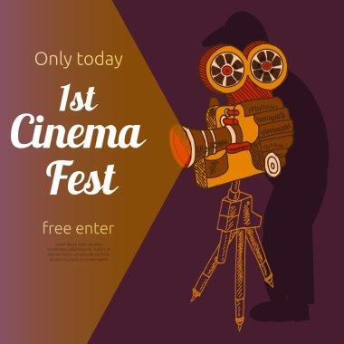 Film festival advertising poster