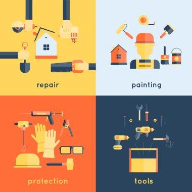 Home Repair Tools Flat