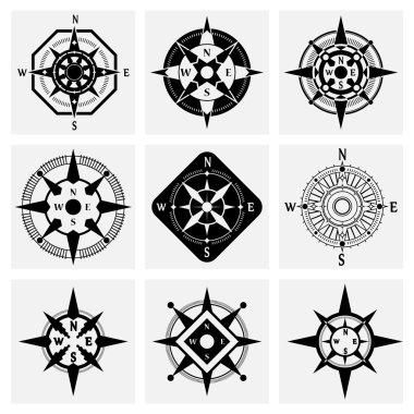 Compass Icons Set