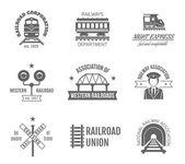 Photo Railway Label Set