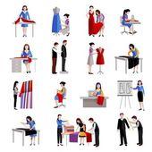 Fotografie Dressmaker Icons Set
