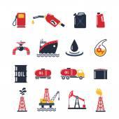 Photo Petroleum Industry Icon Set