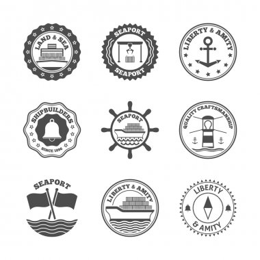 Sea Port Label Set