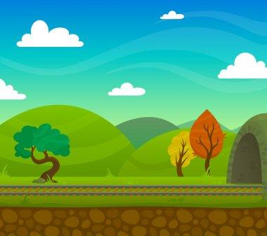 Railway Landscape Illustration