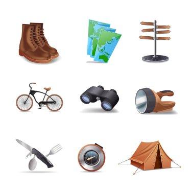 Hike Icons Set