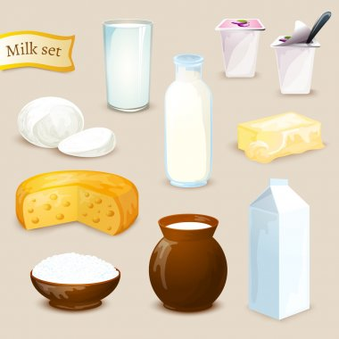 Milk Products Set