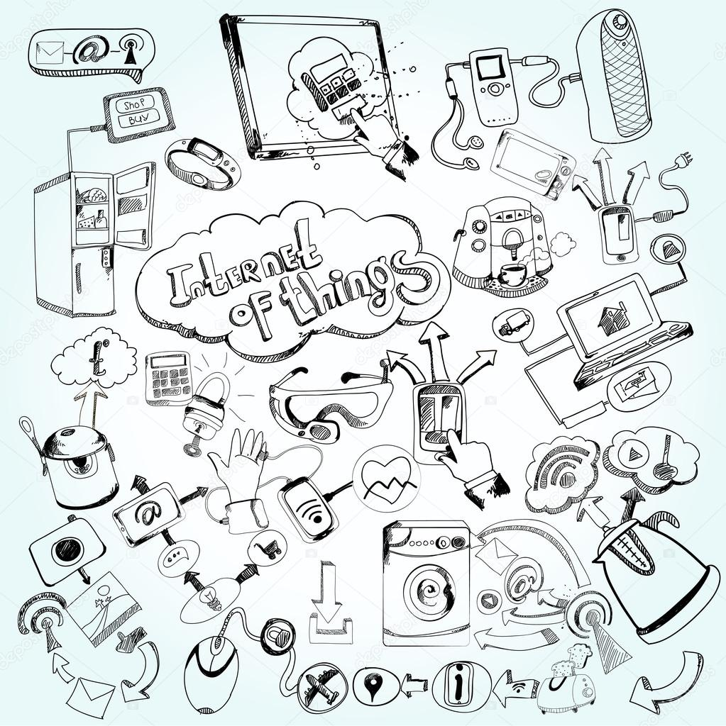 Internet Of Things Doodles