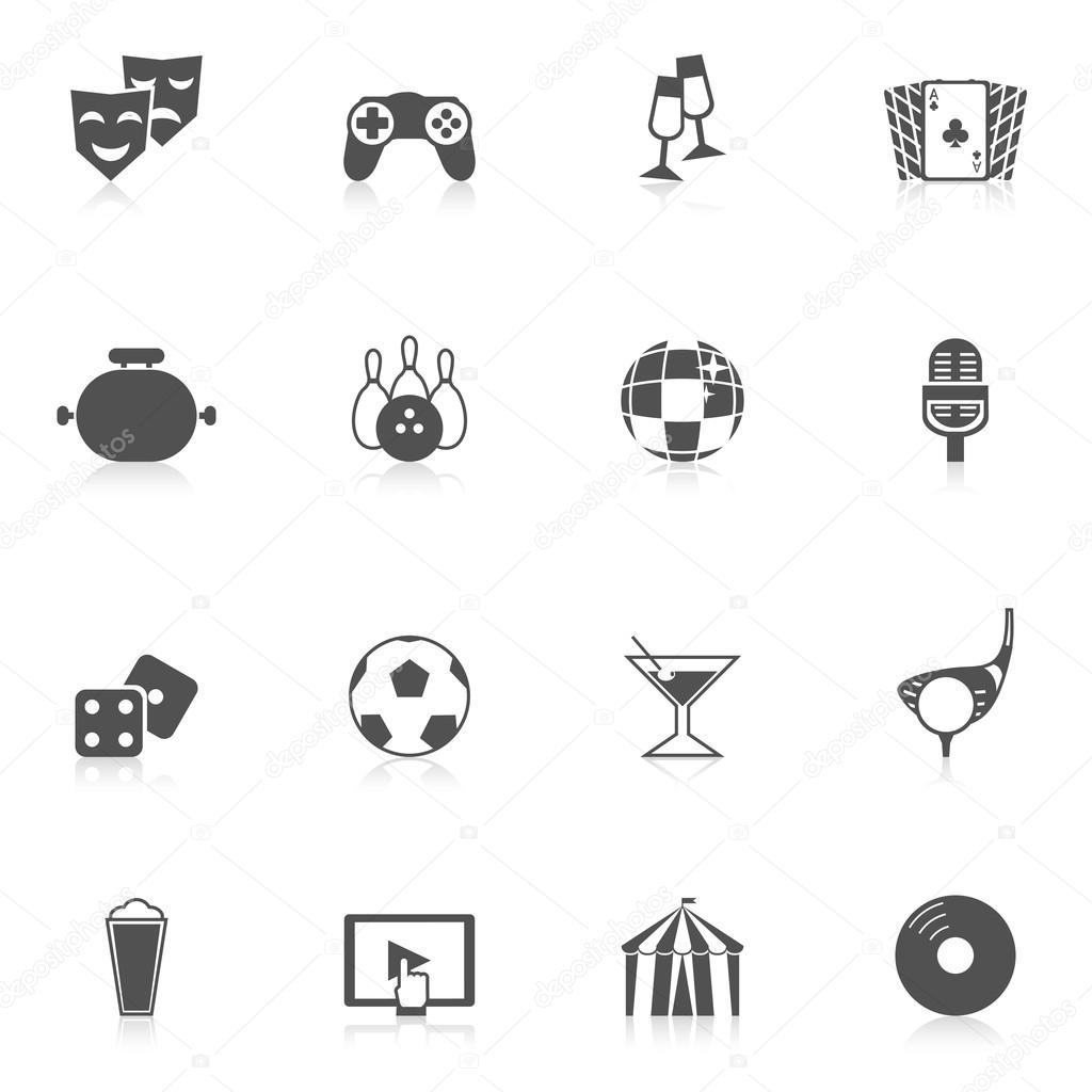 Entertainment Icons Black