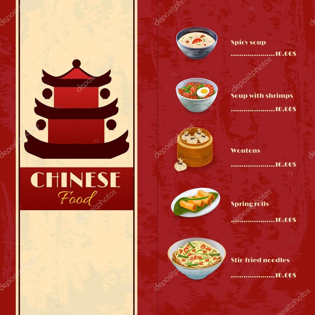 Menu Kuchnia Azjatycka Grafika Wektorowa Macrovector