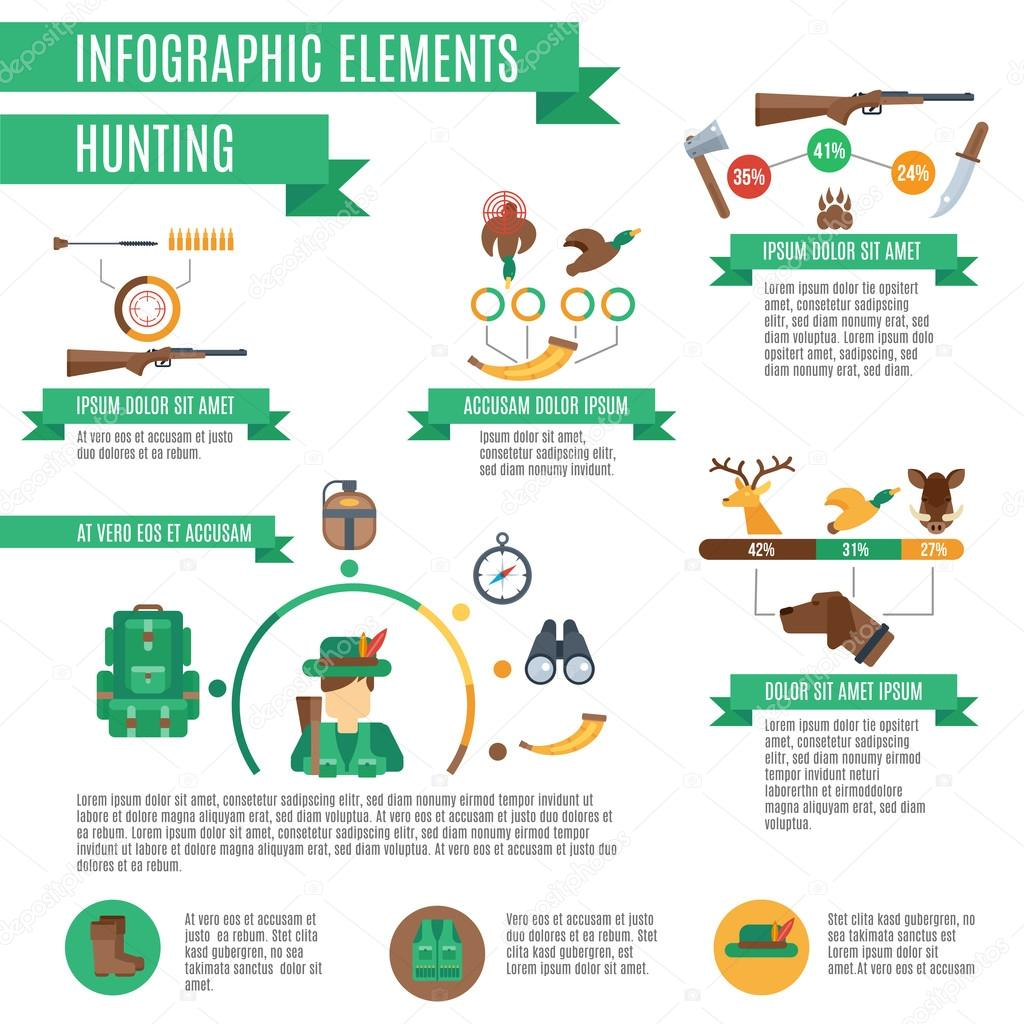 Hunting Infographics Set
