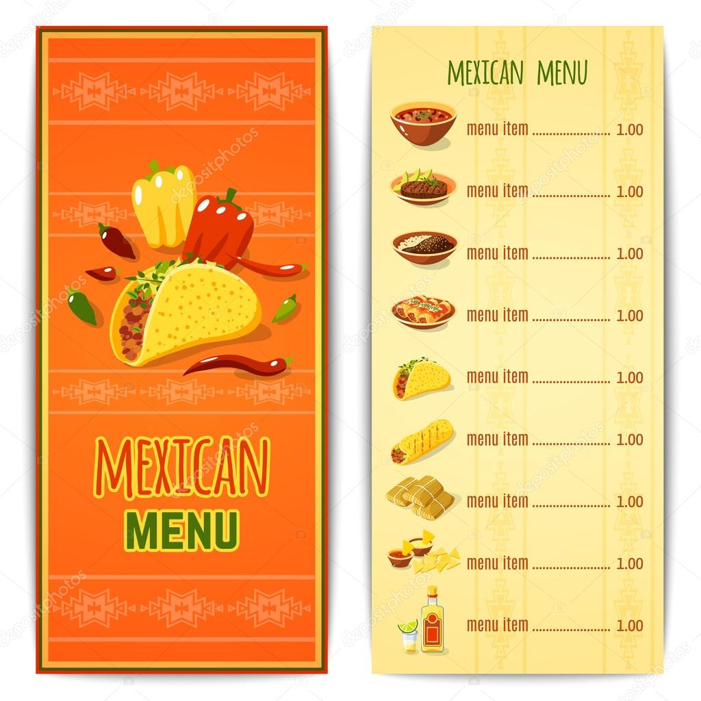 Mexican Food Menu