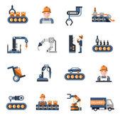 Výrobní linky ikony
