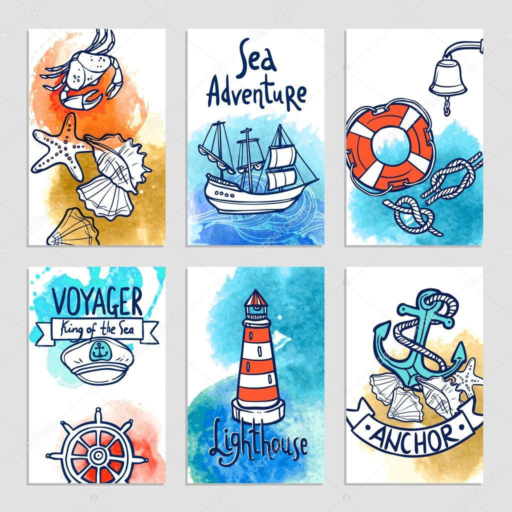 Nautical Cards Set
