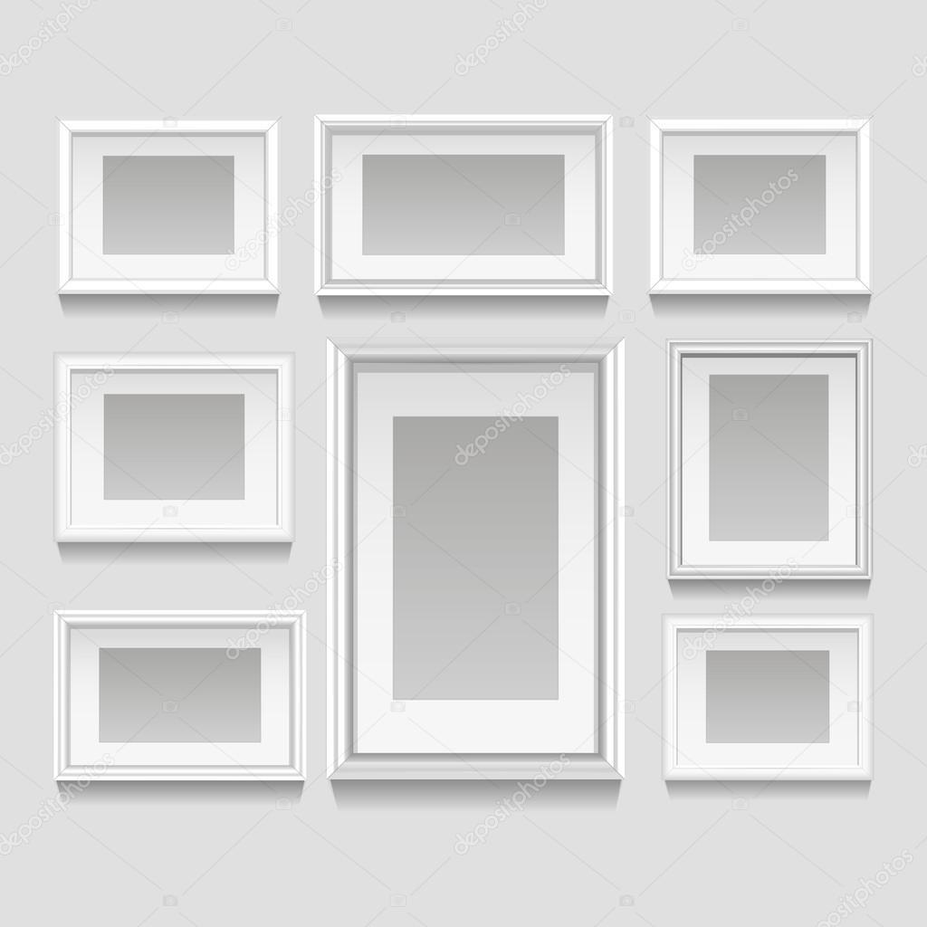 Conjunto de Marcos blanco — Vector de stock © macrovector #70842593
