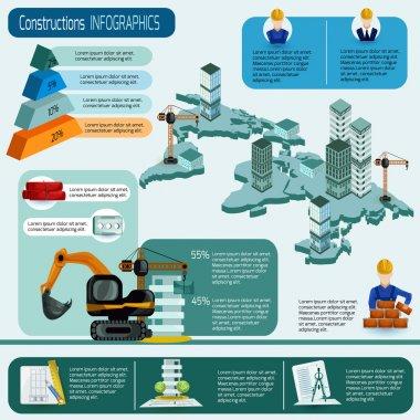 Construction Infographics Set