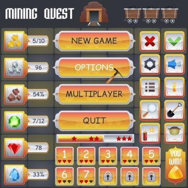 Mining Game Interface