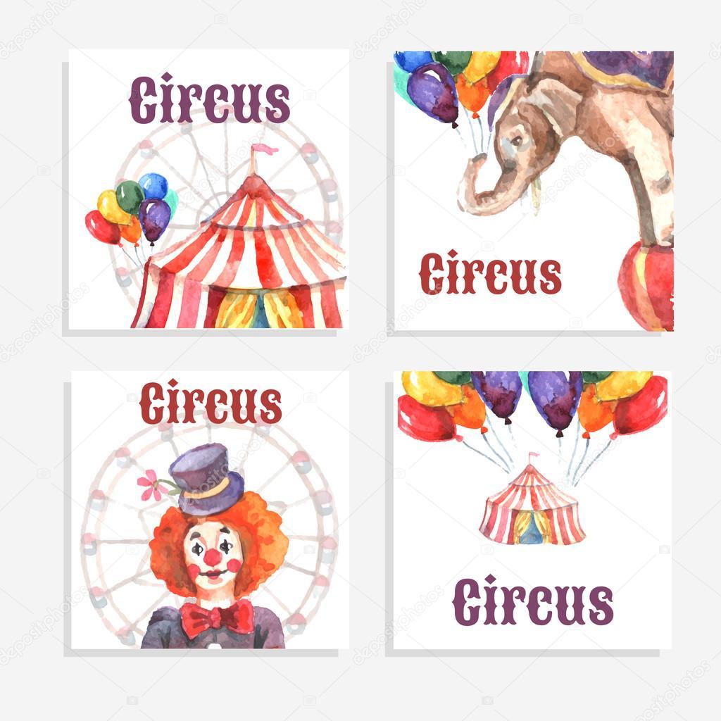 Circus Card Set