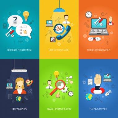 Computer support mini poster set multicolored