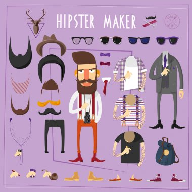 Hipster master creative constructor set
