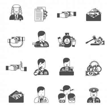 Corruption Black Icons