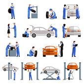 Fotografie Mechanik ikony Set