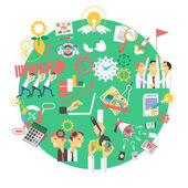 Ikona koncept globální zelený byznys