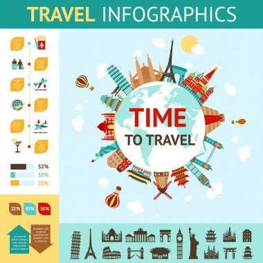 Travel Infographics Set