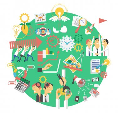 Global green business concept icon