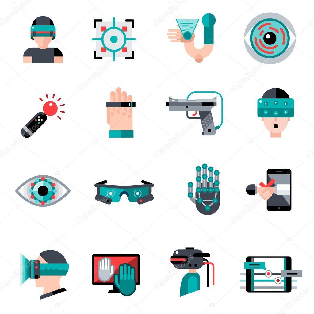 Virtual Augmented Reality Icons