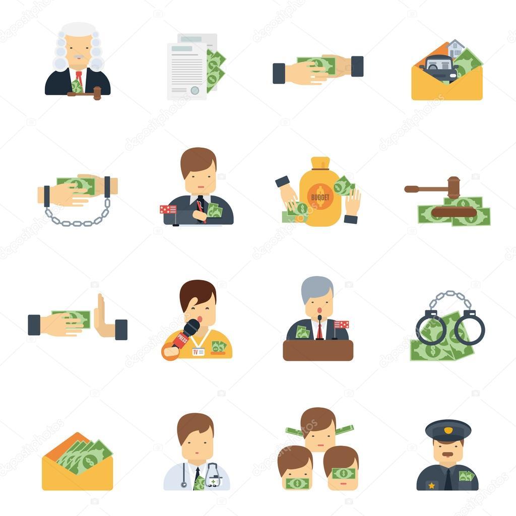 Corruption Icons Flat