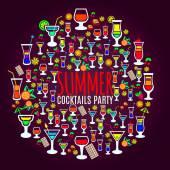 Fotografie Tropische Cocktails Urlaub Partei poster