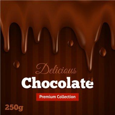 Dark chocolate background print