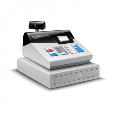 Cash Register Isolated