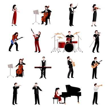 Musicians Icons Set