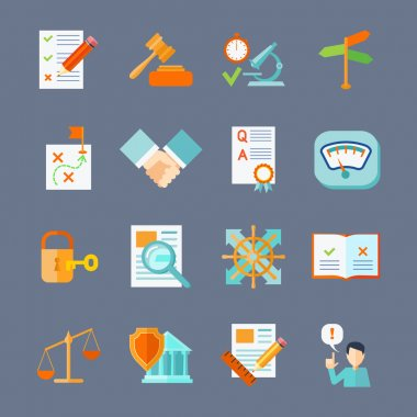 Legal Compliance Icons Set