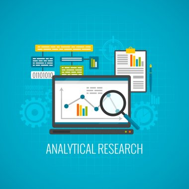 Data and analytical research icon