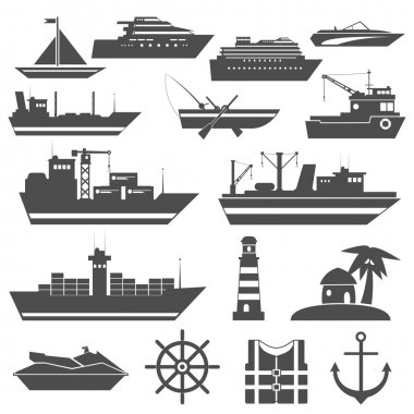 Ship Icon Black