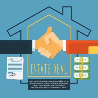 Hands handshake estate deal concept