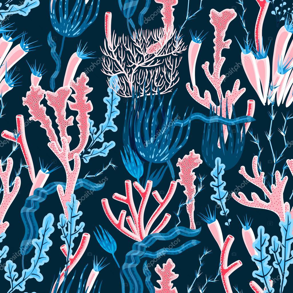 Coral Seamless Pattern