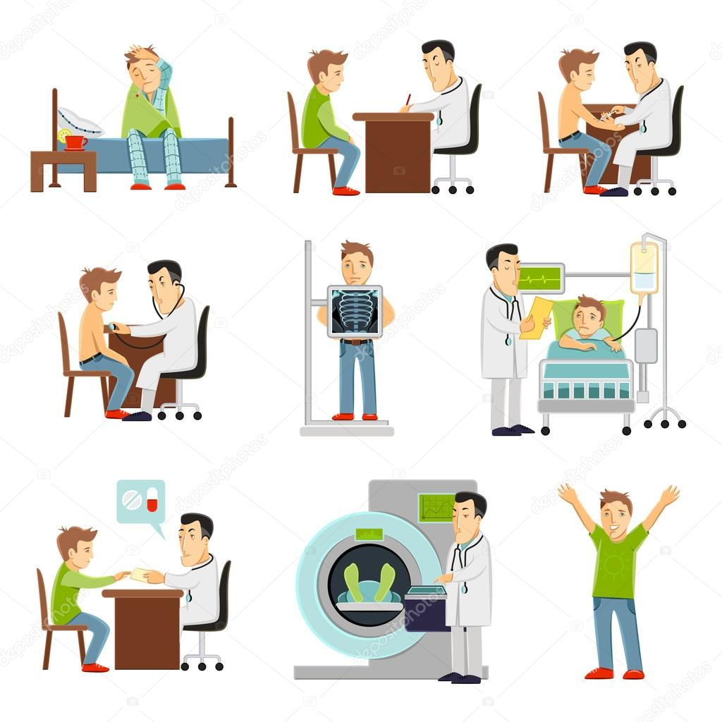ᐈ patient stock vectors royalty free doctor and patient illustrations download on depositphotos https depositphotos com 74009753 stock illustration doctor and patient set html