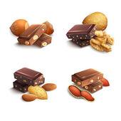 Fotografie schokolade mit nüssen