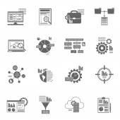 Datové služby analytics ikony