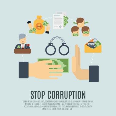 Corruption Concept Flat