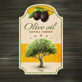 Fotografia OLive oil label print