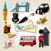 London-touristische-Set