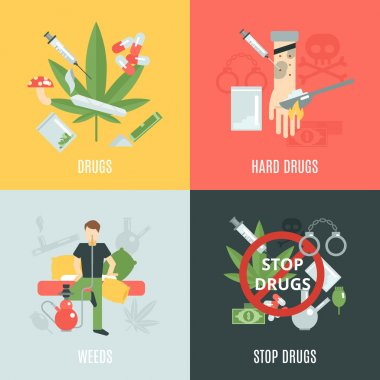 Drugs Flat Set