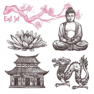 Asian Sketch Set