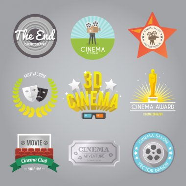 Cinema labels collection