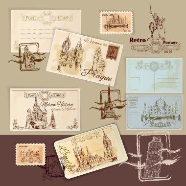 Vintage Postcards Template