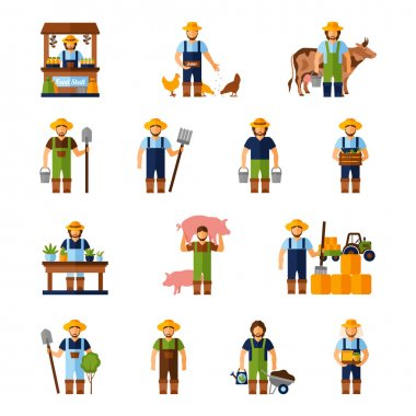Farmers Icons Set